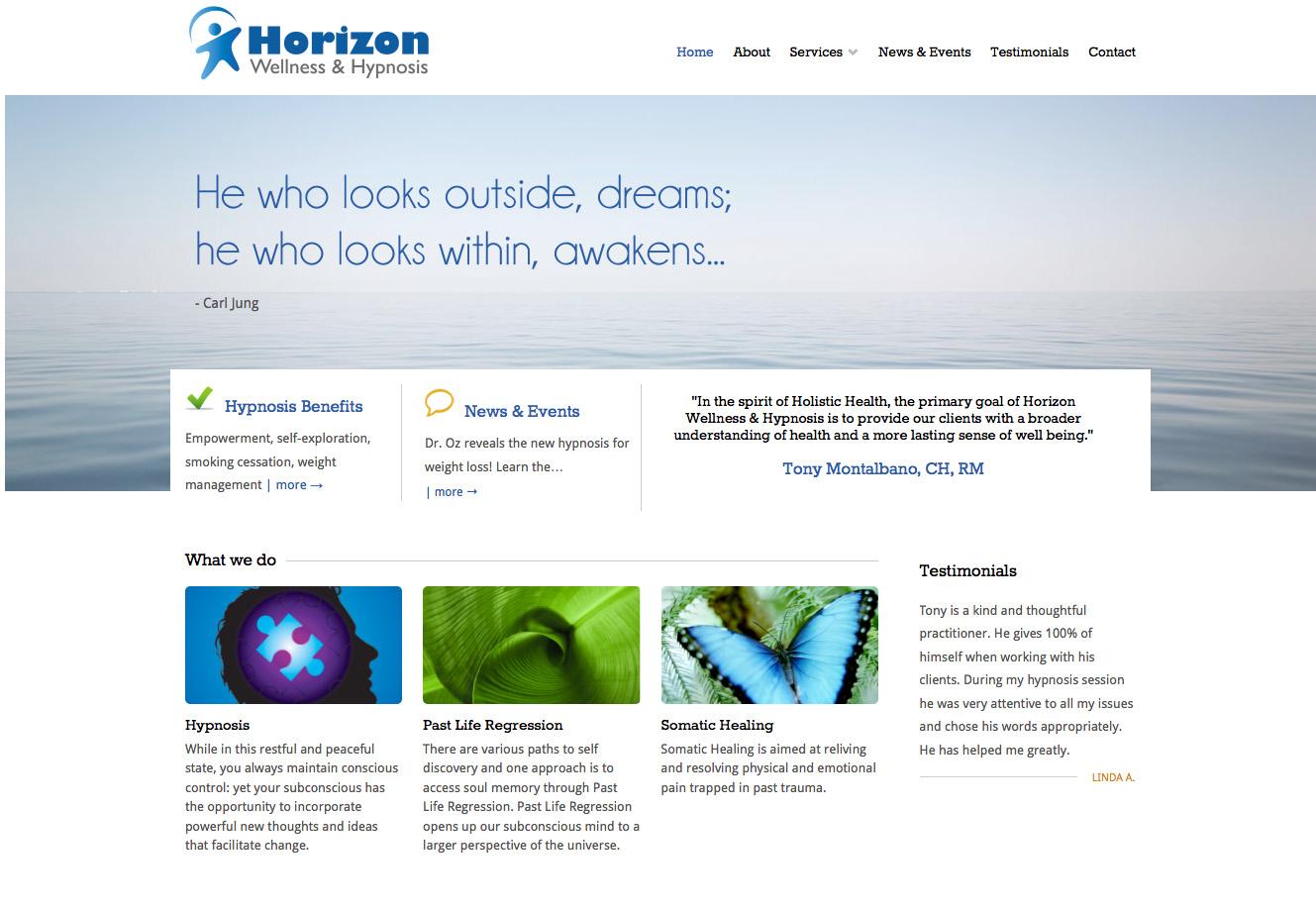 Horizon Wellness & Hypnosis | Clementyne Design