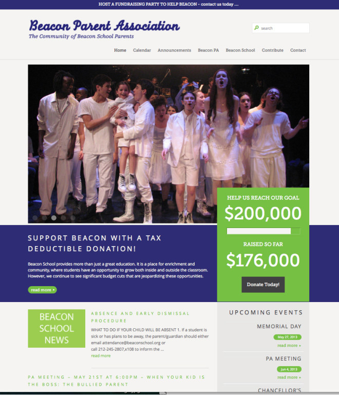 Beacon Parent Association - Website by Clementyne Design