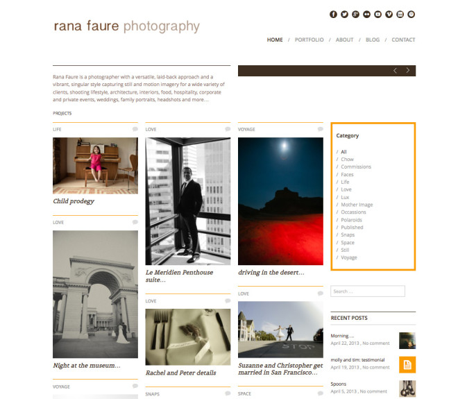 Rana Faure Photography - Website by Clementyne Design