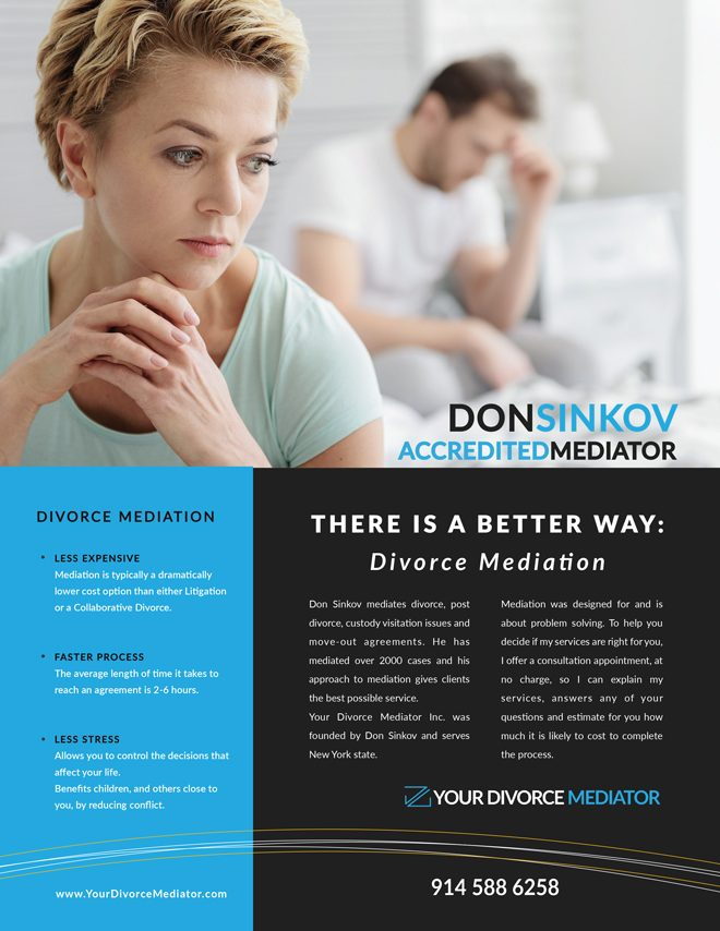 Clementyne Design - Your Divorce Mediator Flyer